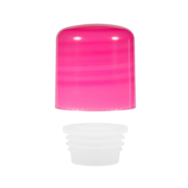 Screwcap + insert PP pink 24.410