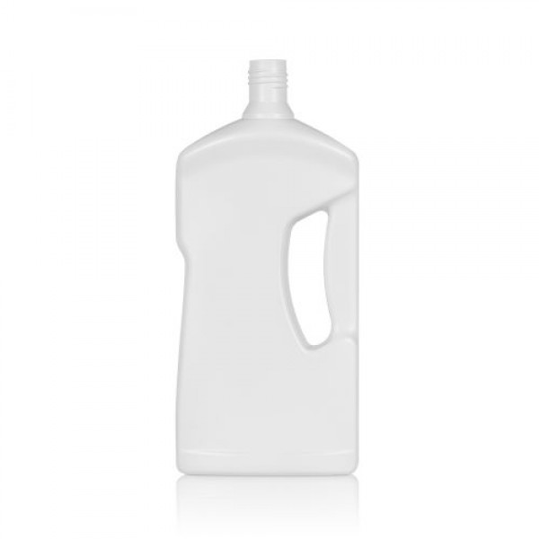 1000 ml bottle Cleaner HDPE white DIN 28